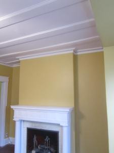 The end result of the resurface with plaster (skim coat)